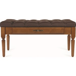 Банкетка Мебелик Оливия эко-кожа коричневый/темно-коричневый цена и фото