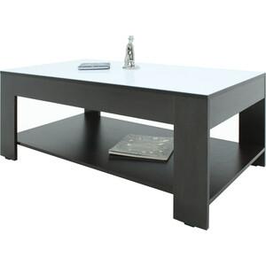 Стол журнальный Мебелик BeautyStyle 26 венге/стекло белое mayer стол журнальный mayer 2 венге стекло белое