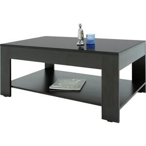 Стол журнальный Мебелик BeautyStyle 26 венге/стекло черное шатура mayer 8 венге стекло черное
