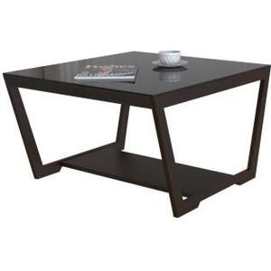 Стол журнальный Мебелик BeautyStyle 1 венге/стекло черное шатура mayer 8 венге стекло черное