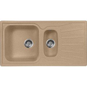 Кухонная мойка AquaGranitEx M-09K (302) песочный