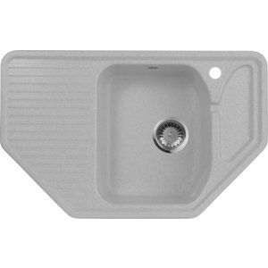 Кухонная мойка AquaGranitEx M-10 (310) серый мойка кухонная aquagranitex m 15 775х495 серый m 15 310