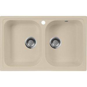 Кухонная мойка AquaGranitEx M-15 (328) бежевый цена и фото