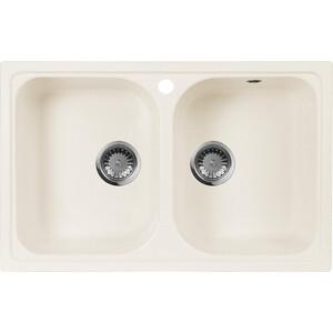 Кухонная мойка AquaGranitEx M-15 (331) белый мойка кухонная aquagranitex m 15 775х495 белый m 15 331