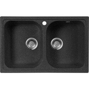 Кухонная мойка AquaGranitEx M-15 (308) черный