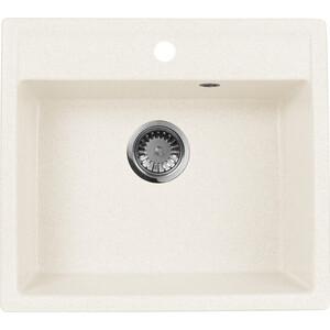 Кухонная мойка AquaGranitEx M-56 (331) белый мойка кухонная aquagranitex m 15 775х495 белый m 15 331