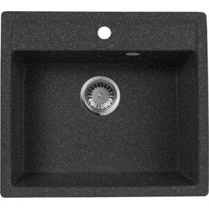 Кухонная мойка AquaGranitEx M-56 (308) черный