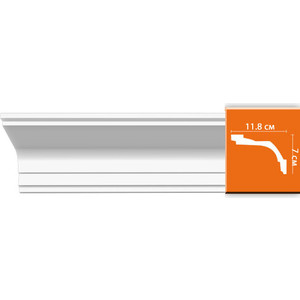 Профиль Decomaster DECOMASTER-2 цвет белый 118х70х2400 мм (96220)