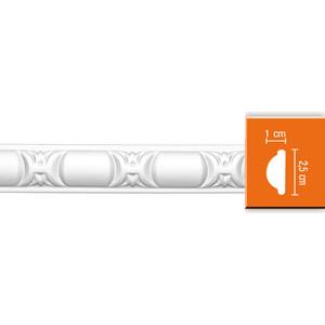 Молдинг Decomaster DECOMASTER-2 цвет белый 10х25х2400 мм (98013) decomaster цветной молдинг decomaster 161d 58 размер 60х17х2400