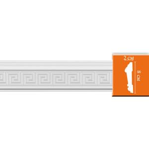 Молдинг Decomaster DECOMASTER-2 цвет белый 20х80х2400 мм (98627)