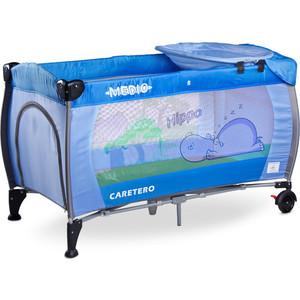 Манеж-кровать Caretero Medio Classic blue синий (TERO-3835) стул caretero one blue tero 7230