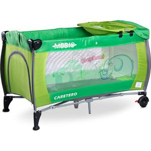 Манеж-кровать Caretero Medio Classic green зеленый (TERO-3836)