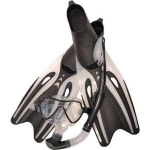 Набор для плавания Wave MSF-1390S65F69 силикон.черный (маска.трубка.ласты)
