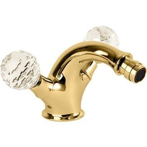 Смеситель для биде Cezares Atlantis с донным клапаном , Золото 24 карат (ATLANTIS-BS1-03/24-Sw)