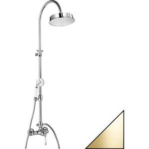 Душевая система Cezares Margot со смесителем для верхнего и ручного душа, золото 24 карат (MARGOT-CD-03/24-Bi)