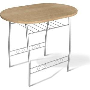 Стол Sheffilton SHT-T10 дуб беленый/серебро стоимость
