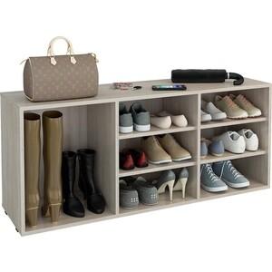 Обувница Мастер Лана-3 ПОЛ-3 (1С+2П) (дуб сонома) полка для обуви мастер лана 3 пол 3 1с 2п орех мст пол 1с 2п ор 16