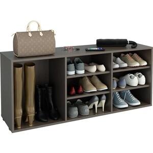Обувница Мастер Лана-3 ПОЛ-3 (1С+2П) (венге) полка для обуви мастер лана 3 пол 3 1с 2п орех мст пол 1с 2п ор 16