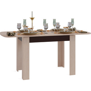 Стол обеденный СОКОЛ СО-3 венге/беленый дуб
