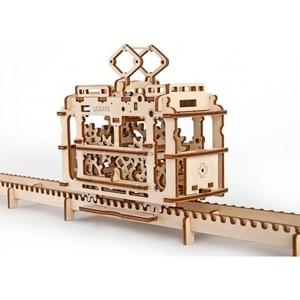 Конструктор 3D-пазл Ugears Трамвай с рельсами (70008) трамвай желание мхт