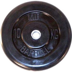 Диск обрезиненный Barbell 26 мм. 10 кг. диск обрезиненный star fit bb 202 посадочный диаметр 26 мм 0 5 кг