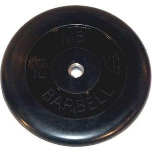 Диск обрезиненный Barbell 26 мм. 15 кг. диск обрезиненный star fit bb 202 посадочный диаметр 26 мм 0 5 кг