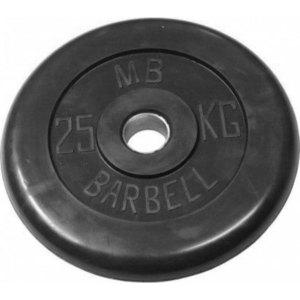 Диск обрезиненный Barbell 51 мм 25 кг диск обрезиненный body solid 5 фунтов 2 25 кг ort5