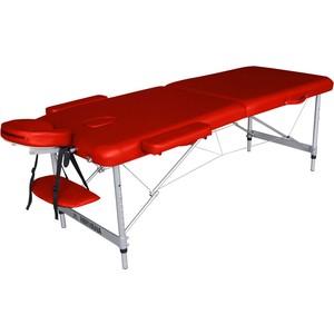 Массажный стол DFC Nirvana elegant optima, 186х60х4 cm (алюминиевые ножки, красный)технические характеристики фото габариты размеры  - купить со скидкой
