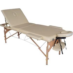 Массажный стол DFC Nirvana Relax Pro (деревяные ножки, бежевый) фото