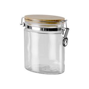 Ёмкость для сыпучих продуктов Nadoba с крышкой из бамбука с замком 0,8 л Dusana (741612) ёмкость для сыпучих продуктов со стальной крышкой 1 65 л nadoba silvana 741410