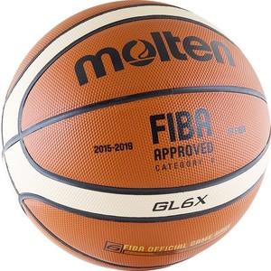 лучшая цена Мяч баскетбольный Molten BGL6X (р. 6) официальный мяч FIBA