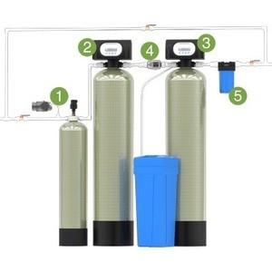 Гейзер Аэрация, обезжелезивание и умягчение 0,6 куб.м/час, 1-2 крана, Clack
