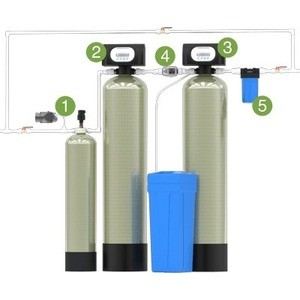 Гейзер Аэрация, обезжелезивание и умягчение 1,8 куб.м/час, до 4 кранов, Clack