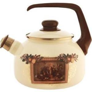 Чайник эмалированный со свистком 2.5 л Metrot Таково Картина (127871) чайник со свистком metrot кухня