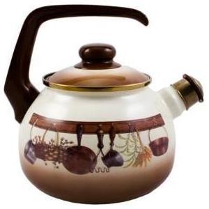 Чайник эмалированный со свистком 2.5 л Metrot Таково Кухня (115432)