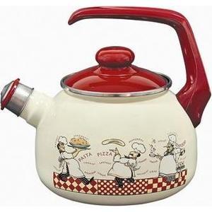 Чайник эмалированный со свистком 2.5 л Metrot Таково Повара (120074) чайник со свистком metrot кухня