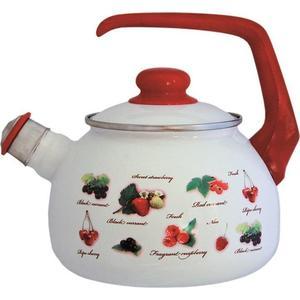 Чайник эмалированный со свистком 2.5 л Metrot Таково Ягоды (132351)