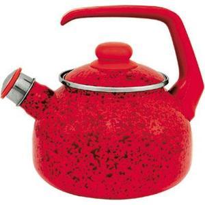 Чайник эмалированный со свистком 2.5 л Metrot Эмина Рубин (083156) чайник со свистком metrot кухня