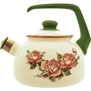 Чайник эмалированный со свистком 2.5 л Metrot Таково Роза (126690) чайник metrot терракот со свистком 2 5 л