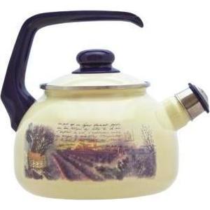 Чайник эмалированный со свистком 2.5 л Metrot Таково Лаванда (129646) чайник со свистком metrot кухня
