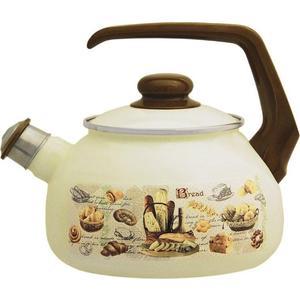 Чайник эмалированный со свистком 2.5 л Metrot Таково Хлеб (131730) чайник со свистком metrot кухня