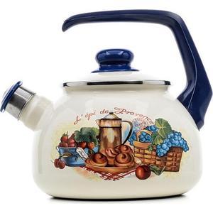 Чайник эмалированный со свистком 2.5 л Metrot Таково Прованс (159451)