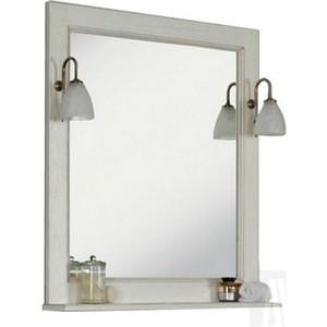 Зеркало с полкой Акватон Жерона 85 белое серебро (1A158702GEM20)