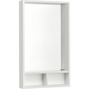 Зеркало с полкой Акватон Йорк 50 белый/выбеленное дерево (1A170002YOAY0)