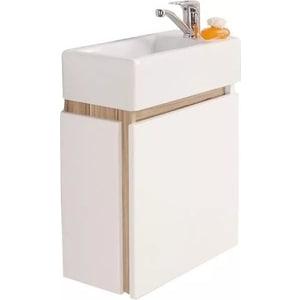 Тумба под раковину Акватон Эклипс 46 М эбони светлый, правая (1A172801EK49R) мебель для ванной акватон эклипс 46 м левая эбони светлый