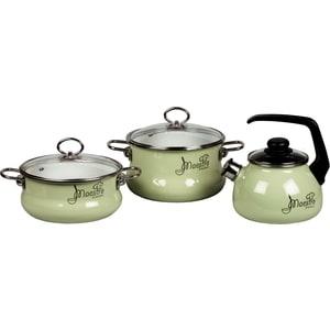 Набор посуды 3 предмета Vitross Maestro (8DT185S салатовый)