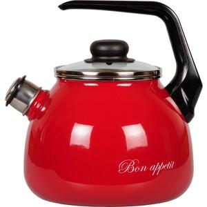 Чайник эмалированный со свистком 3.0 л Vitross Bon Appetit (1RC12 вишневый)