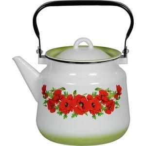 Чайник эмалированный 3.5 л СтальЭмаль Восточный мак (1с26я)