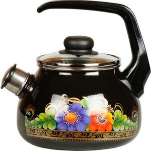 Чайник эмалированный со свистком 2.0 л СтальЭмаль Вологда (4с210я)