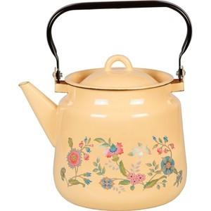 Чайник эмалированный 3.5 л СтальЭмаль Луговые цветы (1с26с) кружка bhk луговые цветы 450 мл